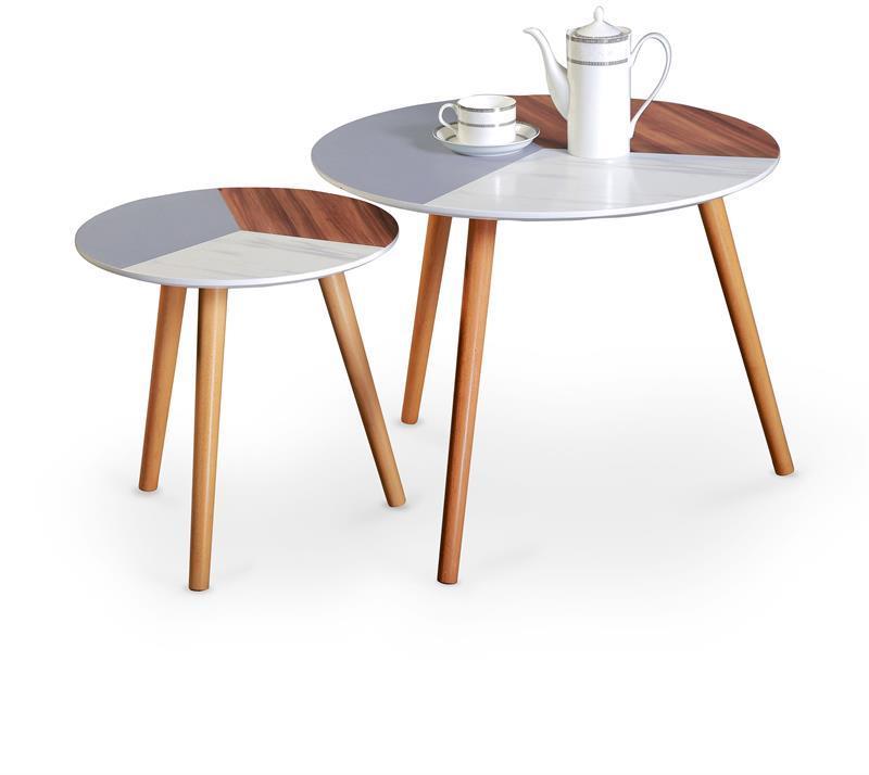 Журнальний стіл MULTI комплект (60x48 і 40x40) Halmar