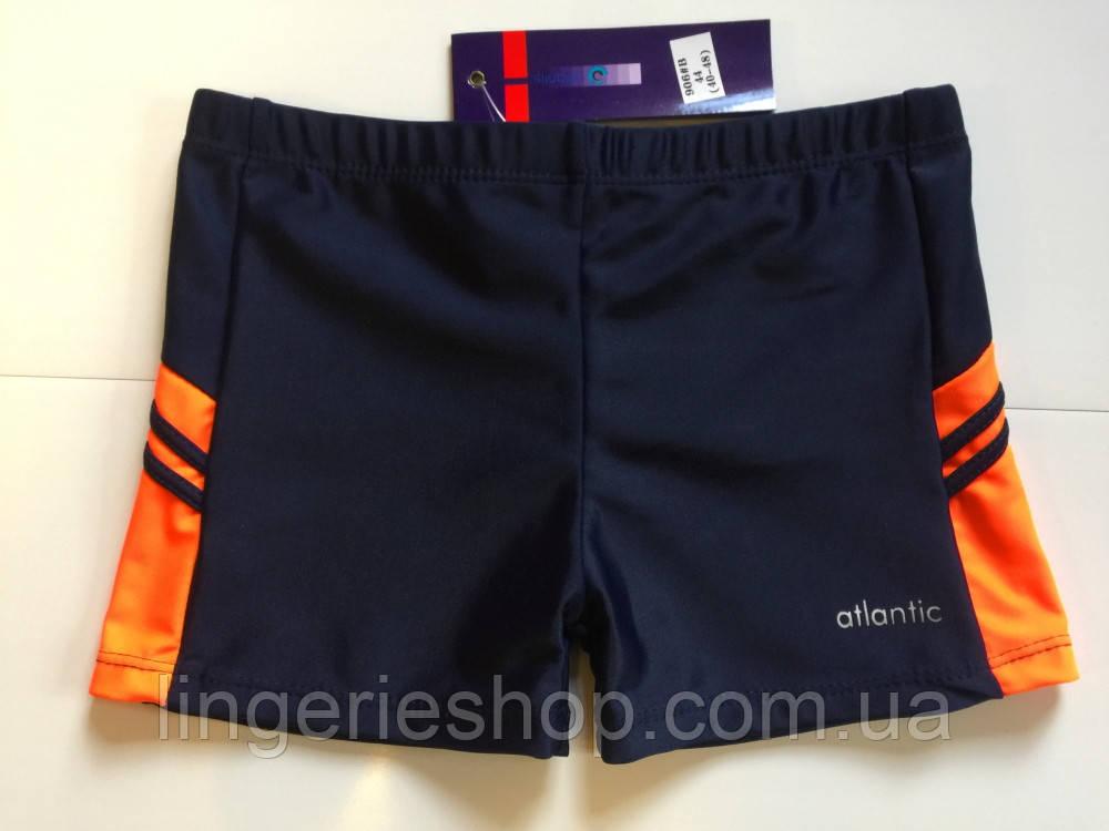 Плавки-шорты подросток Atlantic синий с оранжевым