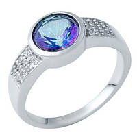 Серебряное кольцо SilverAlex с натуральным мистик топазом (1937471) 17.5 размер