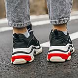 Кросівки Balenciaga Triple-S Black Red White, фото 3