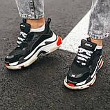 Кросівки Balenciaga Triple-S Black Red White, фото 5