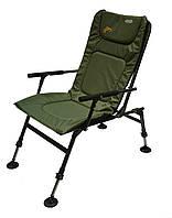 Складное Рыболовное кресло - стул для рыбалки с спинкой и подлокотниками. Карповое - фидерное (201901)