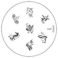 Диск для стемпинга Konad Image Plate M027
