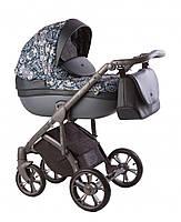 Детская универсальная коляска 2 в 1  Roan Esso, черно-синяя (T9134)