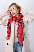 Легкий шарф Барбара, вискоза, алый