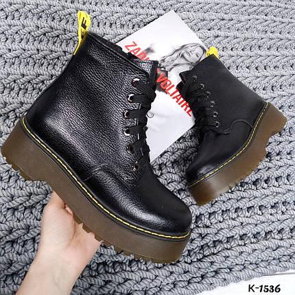 Женские Ботинки натуральная кожа толстой подошве 16\к-1536, фото 2