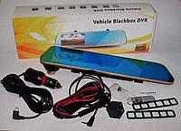 Видеорегистратор в зеркале заднего вида Vehicle Blackbox DVR 3037 P Gold с камерой заднего вида экран 4,3