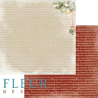 """Лист бумаги для скрапбукинга """"Звон"""", коллекция """"Новогодняя ночь"""", 30х30, плотность 190 гр."""