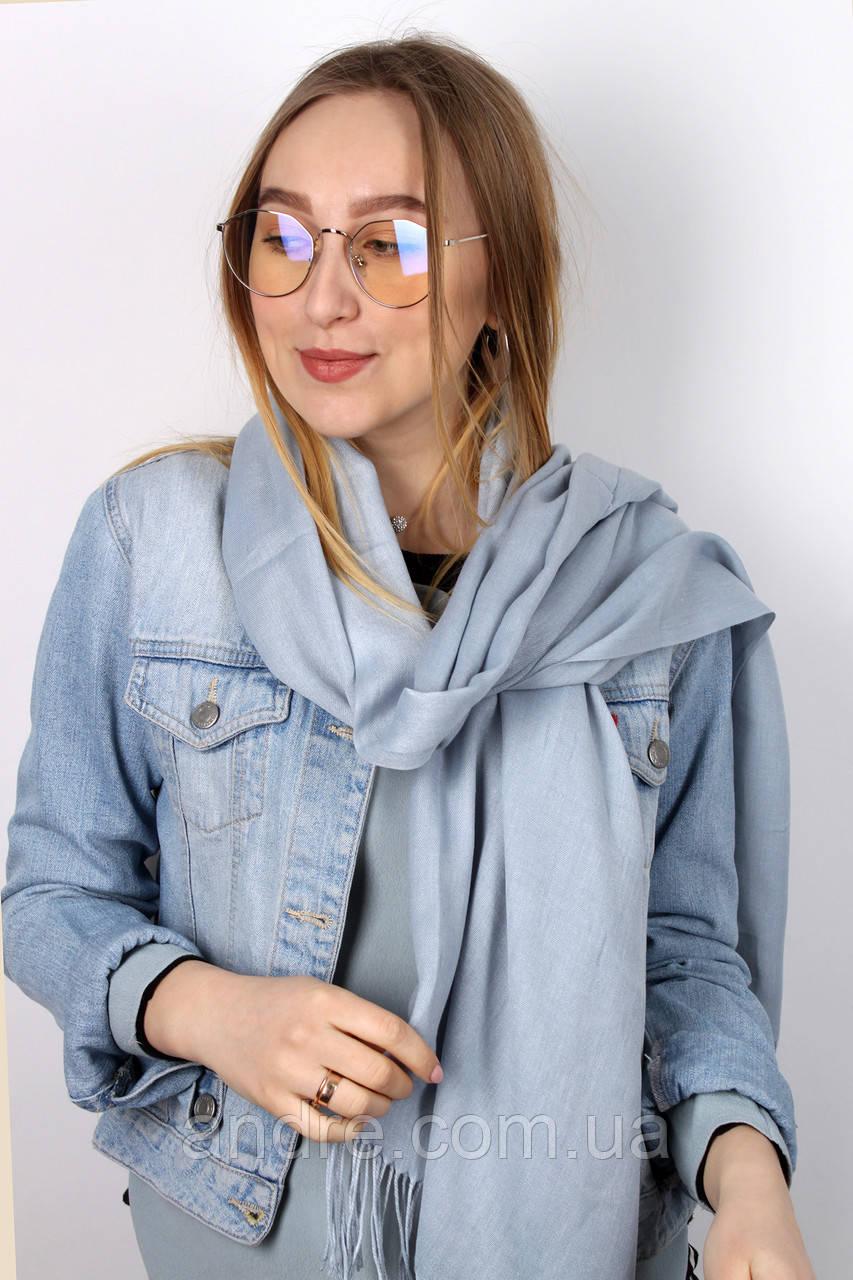 Турецкий шарф пашмина, серый