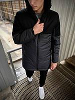 """Демисезонная Куртка """"Fusion"""" бренда Big Boss (серая - черная)"""
