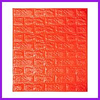 Самоклеющаяся декоративная 3D панель под оранжевый кирпич 700x770x7мм екоративная 3д панель под кирпич отделка