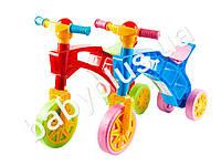 Каталка Ролоцикл трехколесный с пищалкой на руле. Технок 3220