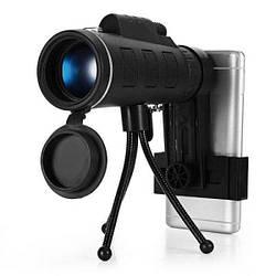 Монокуляр MONOCULAR KL-1040 с треногой и клипсой 40x60 Black