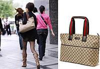 Женская сумка в стиле Gucci.Сумка на каждый день.Сумки из холста.Сумки через плечо.Качество.Стиль.Код:КСЕ154