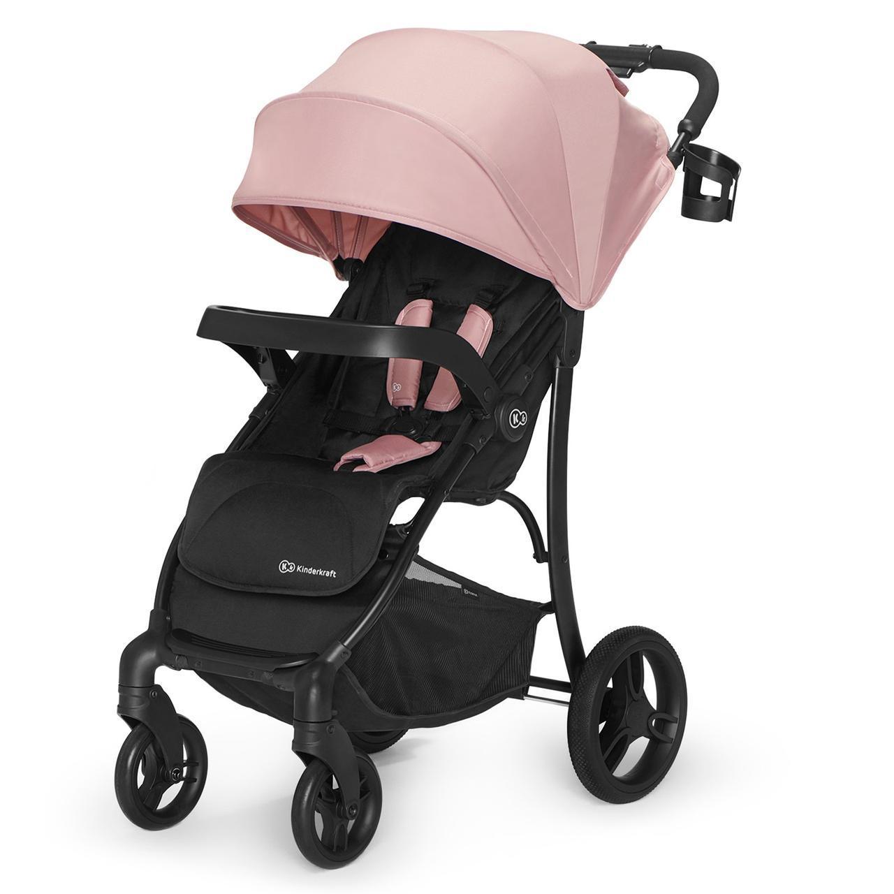 Прогулочная детская коляска с большими колесами Kinderkraft Cruiser pink