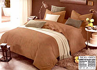 Комплект постельного белья  двуспальный Евро (4 наволочки) Сатин коричневый