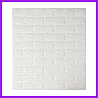 Самоклеящиеся декоративные 3D панели под кирпич белый 700x770x7мм. Декоративная 3д панель под кирпич