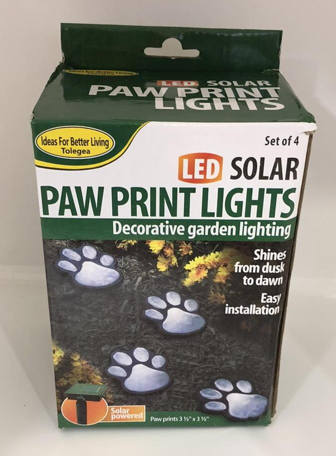 Светящиеся следы Paw Prints Lights на солнечной батарее DL49