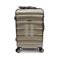 Средний чемодан из поликарбоната на 4 колесах 70 л Wings цвет кварцевый