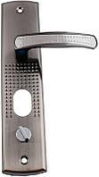 Ручка для металлических дверей FZB - (14-23) с подсветкой SN (сатин), левая дверь