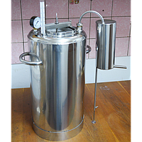 Домашний автоклав Люкс-21, дистиллятор, самогоноварение/очистка воды, материал - нержавейка