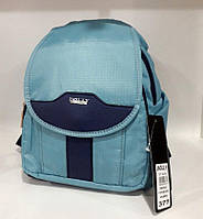 Рюкзак женский маленький тканевый модный городской Dolly 377 с карманами 24х30х15см бирюзовый
