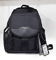 Рюкзак женский тканевый черный маленький городской молодежный модный с карманами Dolly 377 24х30х15см