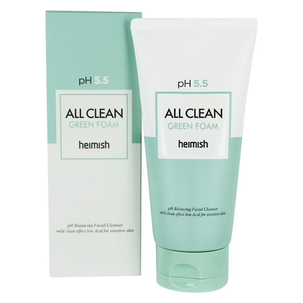 Мягкая очищающая пенка для лица Heimish All Clean Green Foam PH-5. 5 150ml