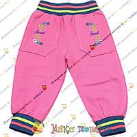 Тёплые штанишки розового цвета для девочек от 1 до 4 лет (3678-2)