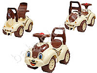 Каталка машина-животное цвет коричневая с бежевым. Технок 2315