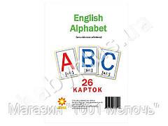 Карточки большие English alphabet А5, 200х150 мм. ZIRKA 72949