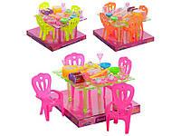 Столовая Стол 4 стула и столовые приборы. A8-67