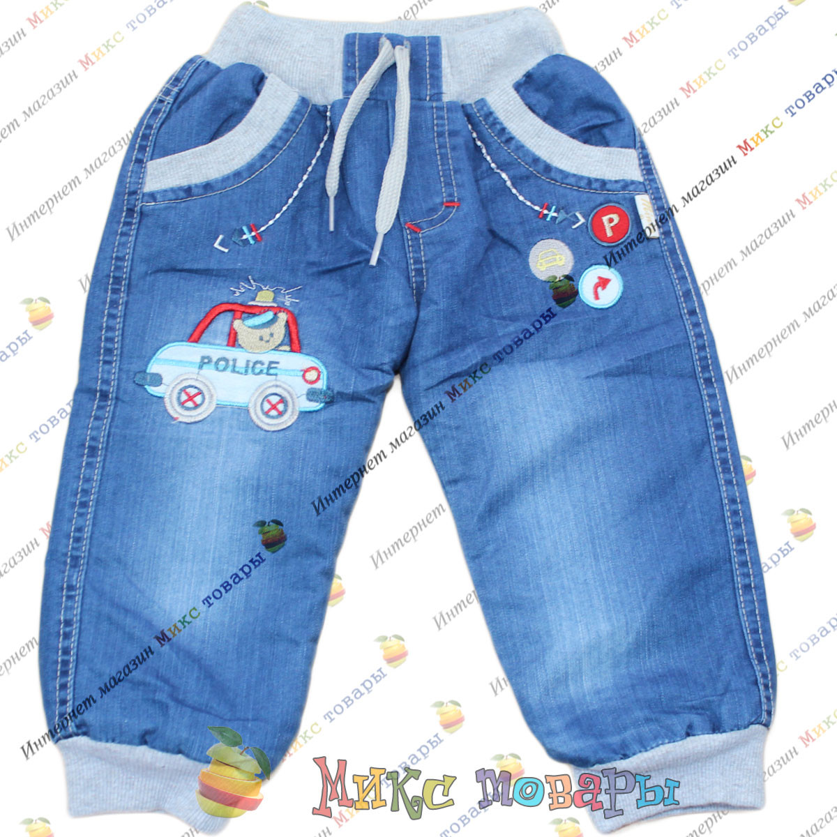 Тёплые джинсы для мальчика Возраст: 6- 24 месяца (3681)