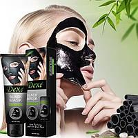 Маска для Лица с Коллагеном Dexe Black Mask Черная Очищающая Маска