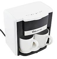 Кофемашина / Кофеварка для дома / Кофеварка Domotec MS-0706 + 2 чашки White