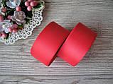 Репсова стрічка 4 см червоний, бобіна 18 м - 51 грн, фото 2