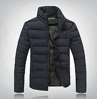 Мужская Дутая куртка без капюшона синяя