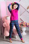Пижама фланелевая MiaNaGreen П307 Единороги на розовом, фото 4