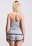 Майка + шорты П034 Серый, фото 3