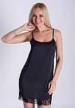Ночная рубашка + халат MiaNaGreen К031н Черный, фото 3