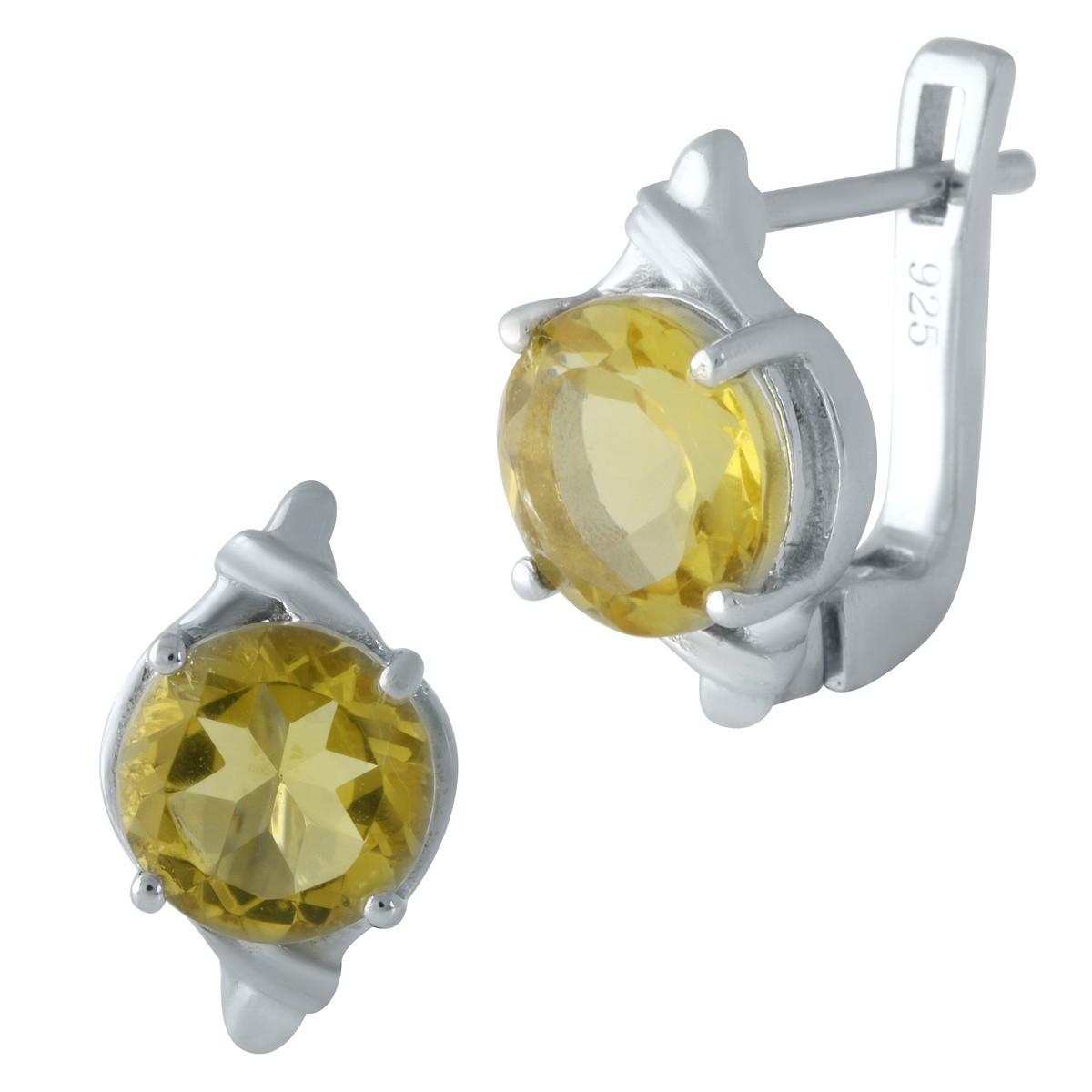 Серебряные серьги SilverAlex с цитрином nano (1962541)