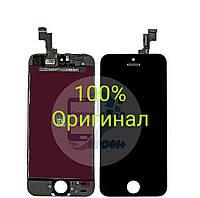 Дисплей,(модуль),экран для Apple iPhone 5S, IPhone SE, оригинал с переклееным стеклом,черный
