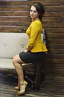 """Молодежное стильное платье с баской """"152"""", фото 1"""