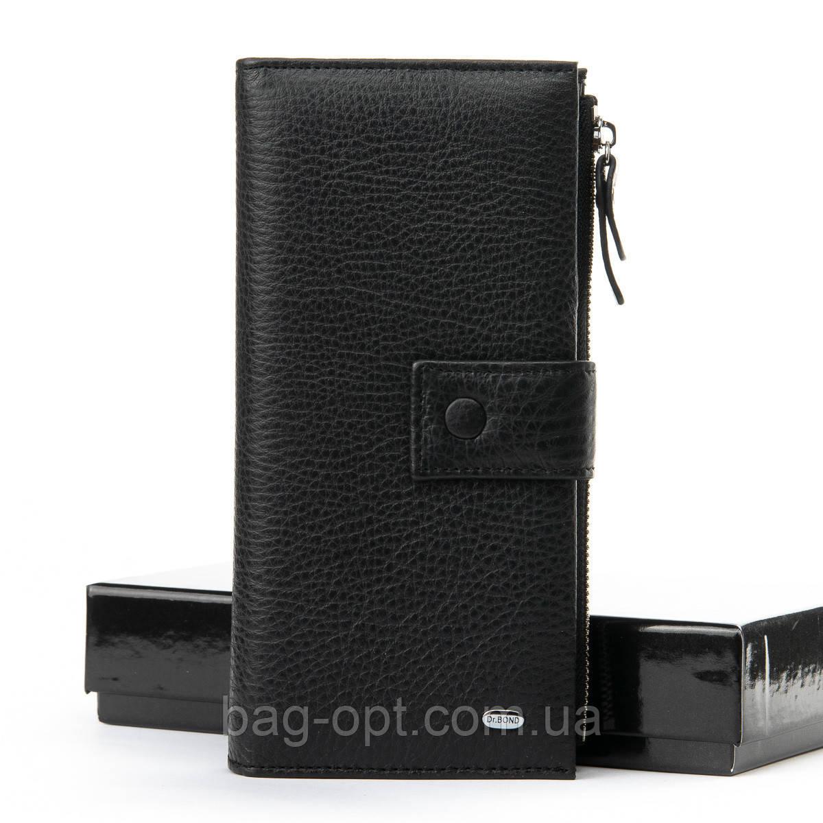 Мужское портмоне из натуральной кожи Bond ( 9.5x19x3 см )