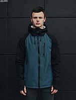 Мужская куртка легкая с капюшоном Staff soft shell Solar black & navy