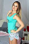 Майка + шорты П012 Барашки мятные, фото 3