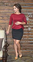 """Молодежное стильное платье с баской """"153"""", фото 1"""