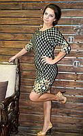 """Молодежное красивое платье большого размера """"цветок"""", фото 1"""