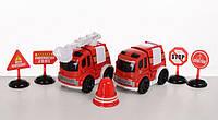 Тематический набор транспорта Пожарная служба Meng ya, красный