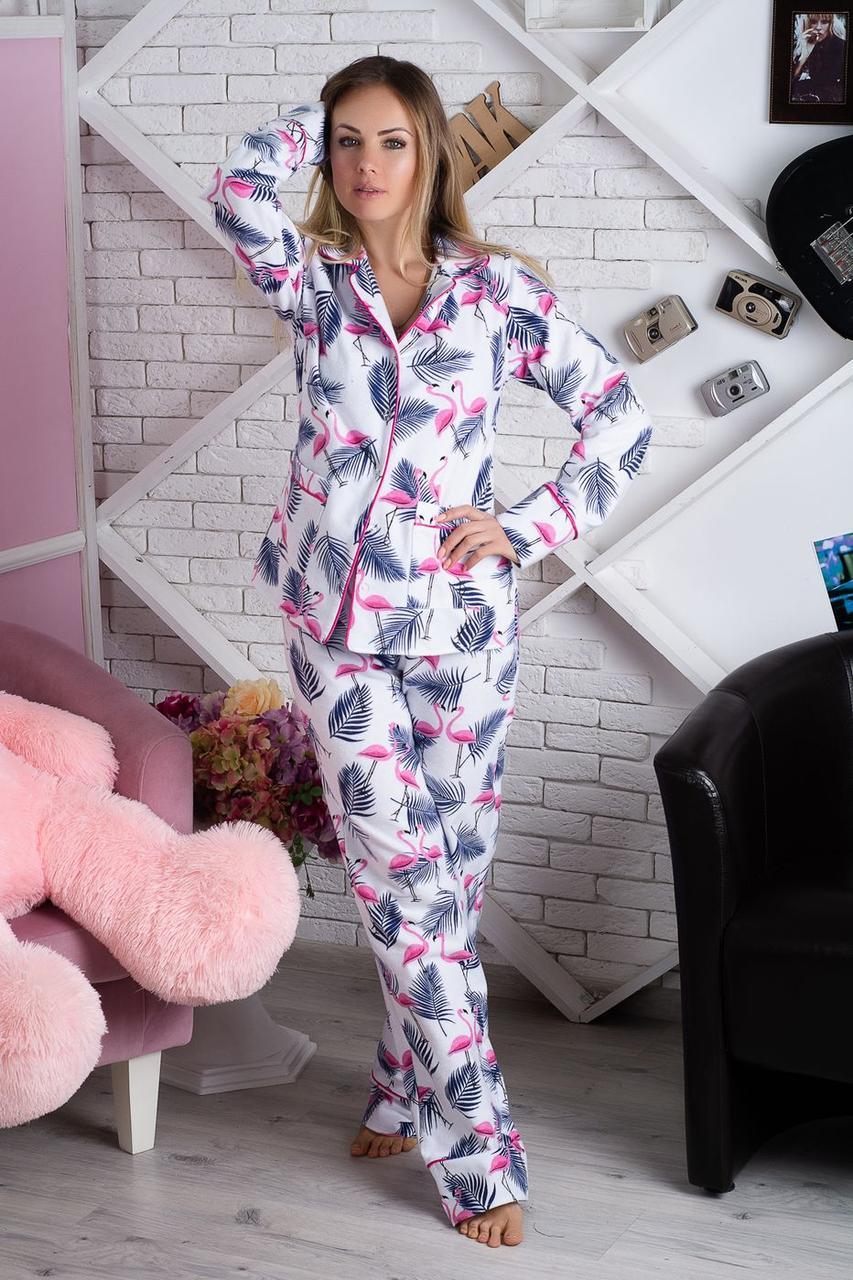 Пижама фланелевая П904 Фламинго